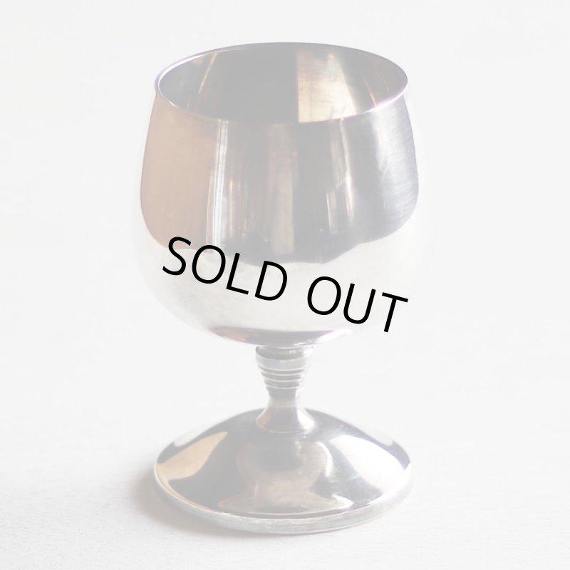 画像1: スペインヴィンテージシルバープレートカップワイングラスゴブレット|アンティーク銀食器銀メッキ (1)