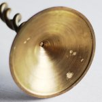 画像14: 英国イギリス製ヴィンテージブラスツイストキャンドルスタンド|アンティークキャンドルホルダー真鍮製蝋台 (14)