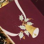 画像10: USAヴィンテージ1950年代紙ものクリスマスカード ポインセチア・ジングルベルアンティークポストカード (10)