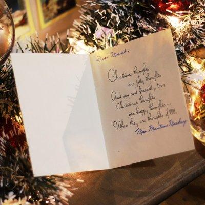 画像2: USAヴィンテージ1950年代紙ものクリスマスカード|冬景色・ポインセチア・キャンドルアンティークカード