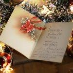 画像6: USAヴィンテージ1950年代紙ものクリスマスカード ポインセチア・リボン・ヒイラギ・アンティークカード (6)