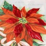 画像4: USAヴィンテージ1950年代紙ものクリスマスカード ポインセチアのグリーティングアンティークカード (4)