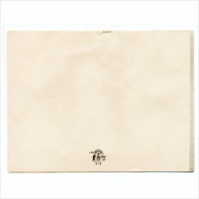 画像3: USAヴィンテージ1950年代紙ものクリスマスカード|淡い3つのポインセチア・アンティークカード
