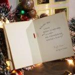 画像9: USAアンティーククリスマスカード1910年代紙もの|ポインセチアとキャンドルリーティングカード (9)