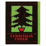 画像1: USAヴィンテージ1940年代紙ものクリスマスカード もみの木のクリスマスツリーアンティークカード (1)