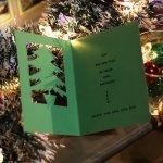 画像11: USAヴィンテージ1940年代紙ものクリスマスカード もみの木のクリスマスツリーアンティークカード (11)