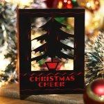 画像10: USAヴィンテージ1940年代紙ものクリスマスカード もみの木のクリスマスツリーアンティークカード (10)