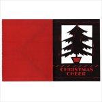 画像4: USAヴィンテージ1940年代紙ものクリスマスカード もみの木のクリスマスツリーアンティークカード (4)