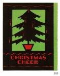 画像5: USAヴィンテージ1940年代紙ものクリスマスカード もみの木のクリスマスツリーアンティークカード (5)