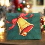 画像7: USAヴィンテージ1940年代紙ものクリスマスカード|Hawthorne-Sommerfieldジングルベルのアンティークカード (7)