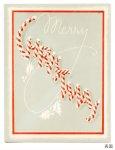 画像5: USAヴィンテージ1940年代紙ものクリスマスカード|キャンディケインのアンティークカード (5)