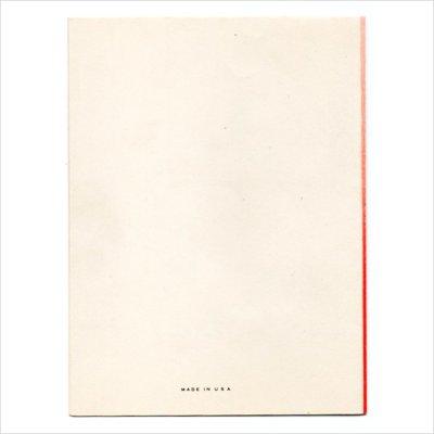 画像3: USAヴィンテージ1940年代紙ものクリスマスカード|2色刷りポインセチアと雪の結晶アンティークカード