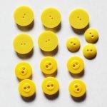 画像2: USAヴィンテージソーイングボタン黄色|プラスティック・ベークライト・イエロー14個 (2)