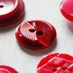 画像4: USAヴィンテージソーイングボタン・赤|プラスティック・ベークライト・レッド35個 (4)