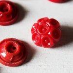 画像8: USAヴィンテージソーイングボタン・赤|プラスティック・ベークライト・レッド35個 (8)