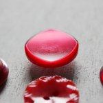 画像13: USAヴィンテージソーイングボタン・赤|プラスティック・ベークライト・レッド35個 (13)