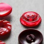 画像14: USAヴィンテージソーイングボタン・赤|プラスティック・ベークライト・レッド35個 (14)