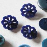 画像5: USAヴィンテージソーイングボタンブルー|プラスティック・ベークライト・青紺29個 (5)