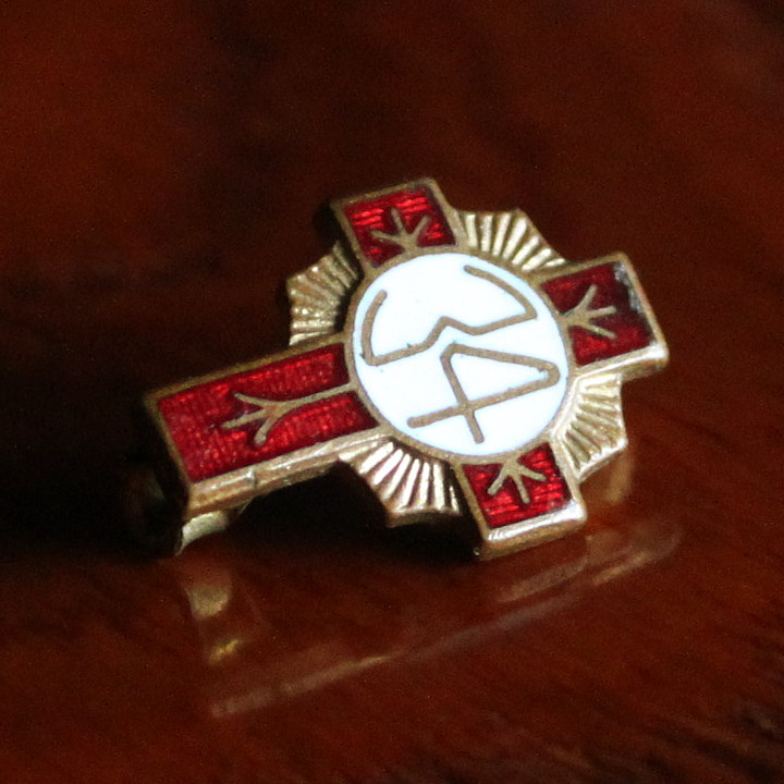 画像1: USAヴィンテージクリスチャンピンバッジ34|キリスト教聖品christian pinsブローチ (1)