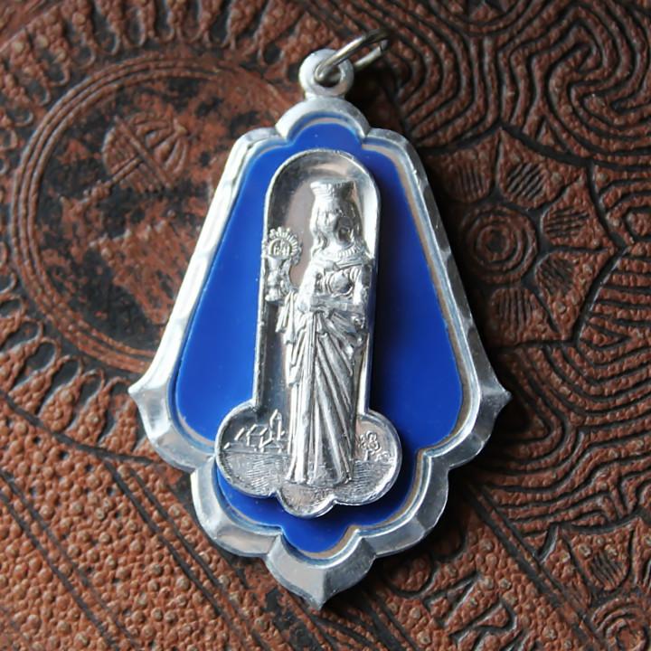 画像1: イタリアヴィンテージメダイ 聖バルバラギリシャ・東方正教会聖品アンティークメダイ (1)