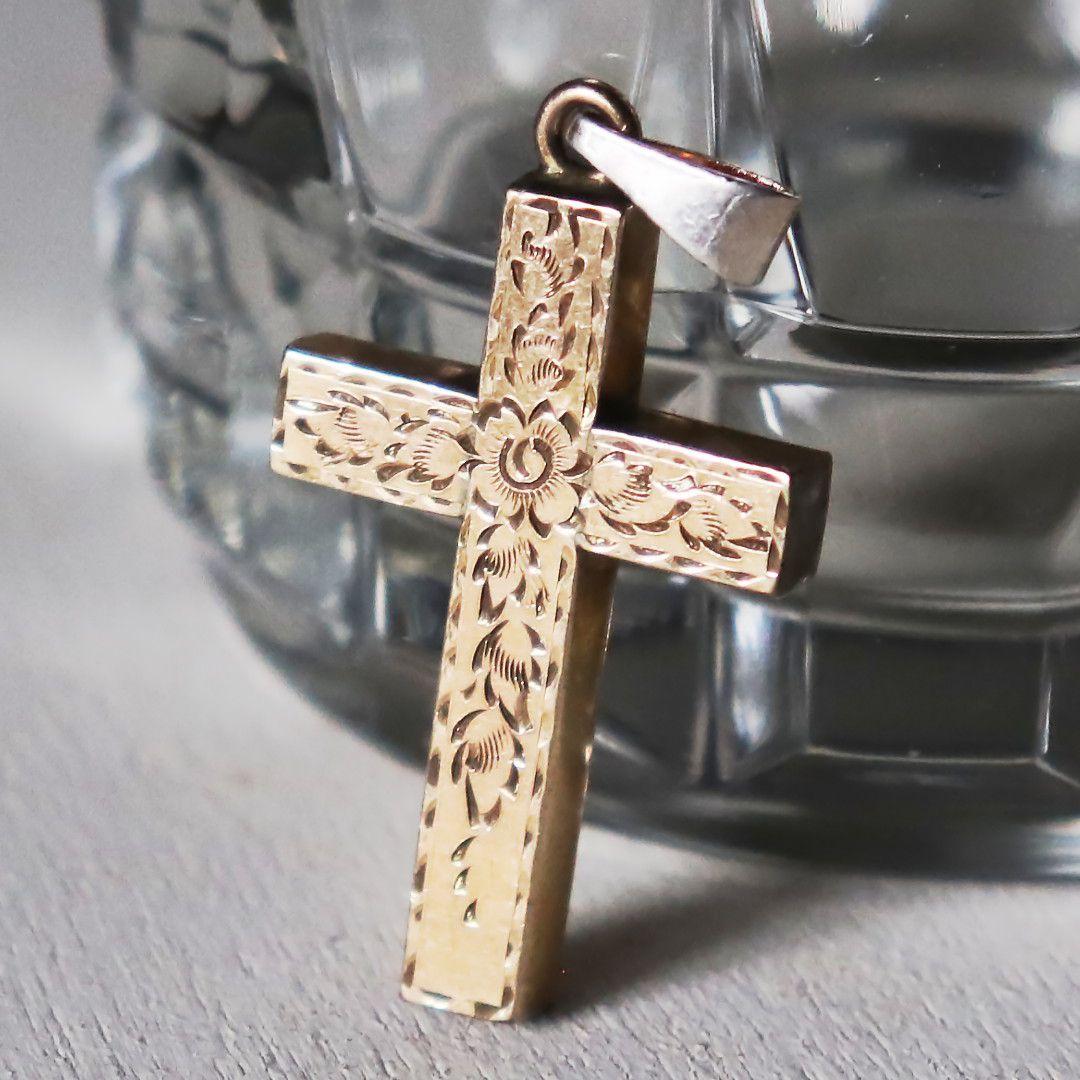 アンティーククロス十字架ペンダントチャーム|USAヴィンテージ