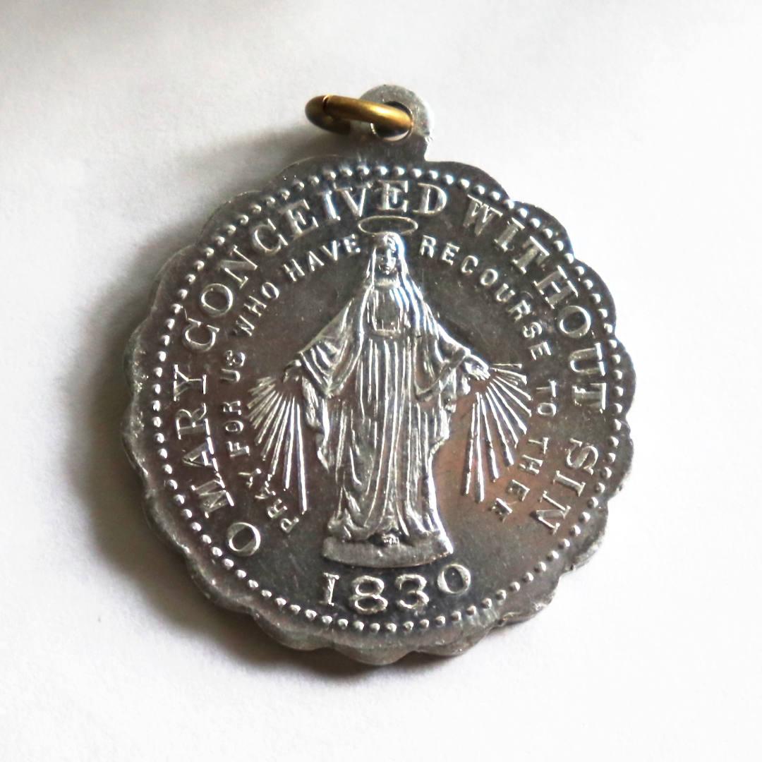 ヴィンテージ不思議のメダイ 聖母・無原罪のマリア