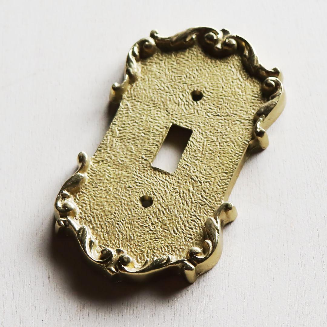 アンティーク建築金物真鍮製照明関連|アメリカンタイプトグル式ブラススイッチプレート
