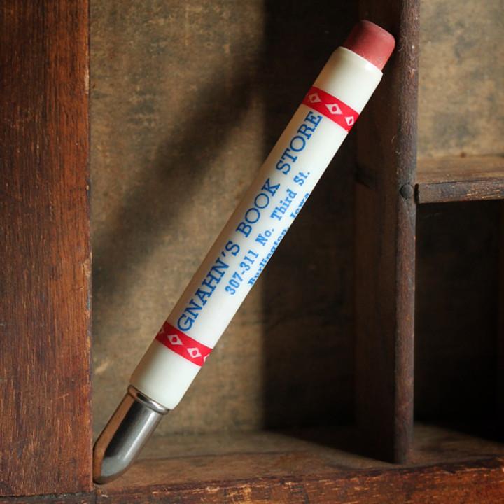 画像1: USAアメリカヴィンテージバレットペンシル|弾丸型アドバタイジング鉛筆GNAHN'S BOOK STORE (1)
