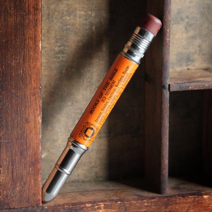 画像1: USAアメリカヴィンテージバレットペンシル|弾丸型アドバタイジング鉛筆BOOK OF THE BIBLE (1)