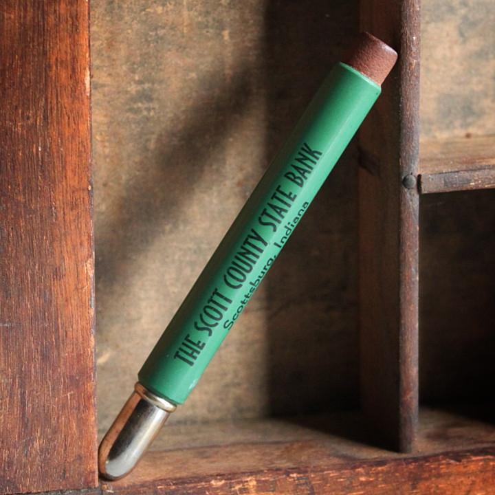 画像1: USAアメリカヴィンテージバレットペンシル|弾丸型アドバタイジング鉛筆THE SCOTT COUNTY STATE BANK (1)