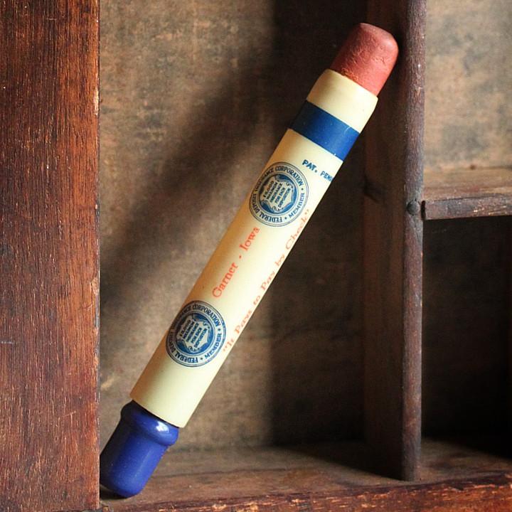 画像1: USAアメリカヴィンテージバレットペンシル|弾丸型アドバタイジング鉛筆HANCOCK COUNTY NATIONAL BANK (1)