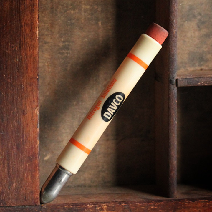 画像1: USAアメリカヴィンテージバレットペンシル|弾丸型アドバタイジング鉛筆 DAVCO Nitrogen Solutions (1)