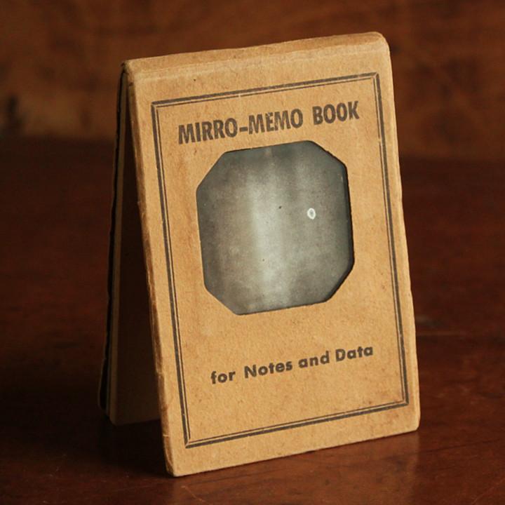 画像1: USAアメリカヴィンテージミラーノートブックMIRRO-MEMO BOOK騙し絵&鏡付メモ帳|アンティーク珍品 (1)