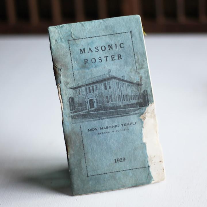 画像1: USAヴィンテージ紙ものフリーメイソンブックレット1929年|Sparta Masonic Templeウィスコンシン (1)