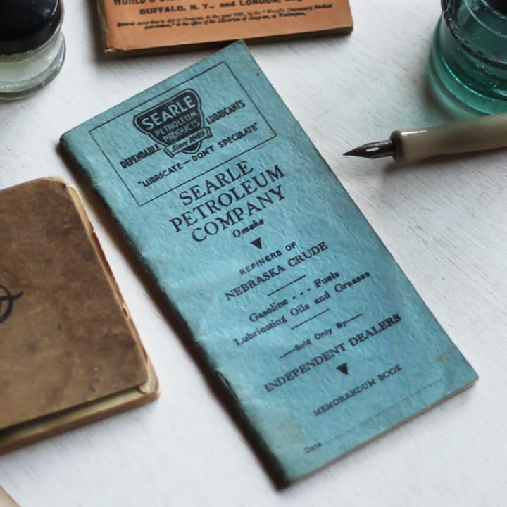 画像1: USAヴィンテージ紙ものメモ帳ノートブックレット|Searle Petroleum Company Omaha Memorandum Book (1)