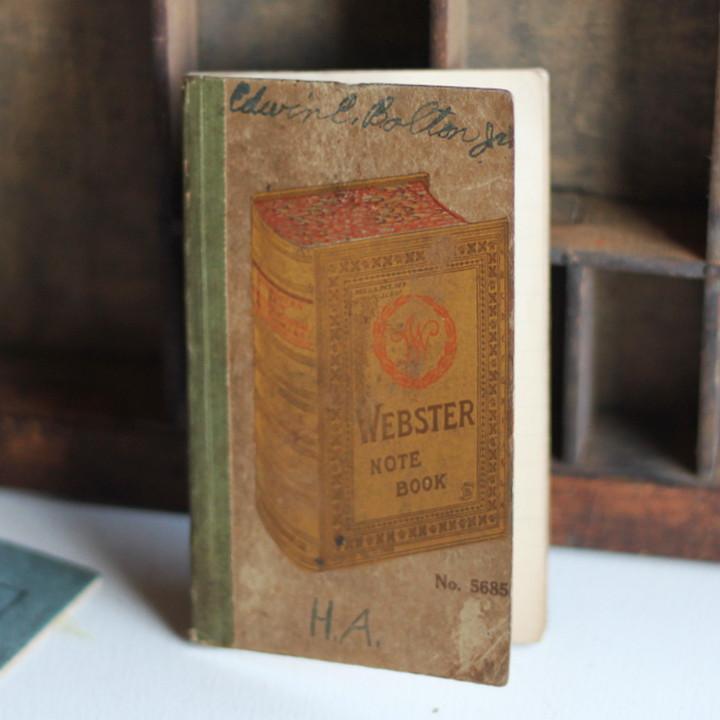 画像1: USAヴィンテージ紙ものメモ帳ノートブック|WEBSTER dictionary note book (1)