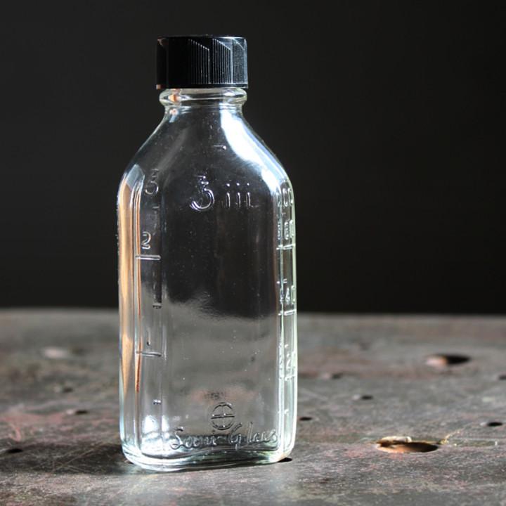 画像1: USAヴィンテージBrockway Suni-Glasメディスンボトル|アンティークガラス (1)