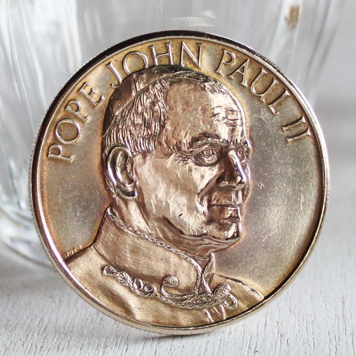 画像1: ヨハネ・パウロ2世1979年ニューヨーク訪問記念コイン|カトリック教会教皇メダル (1)