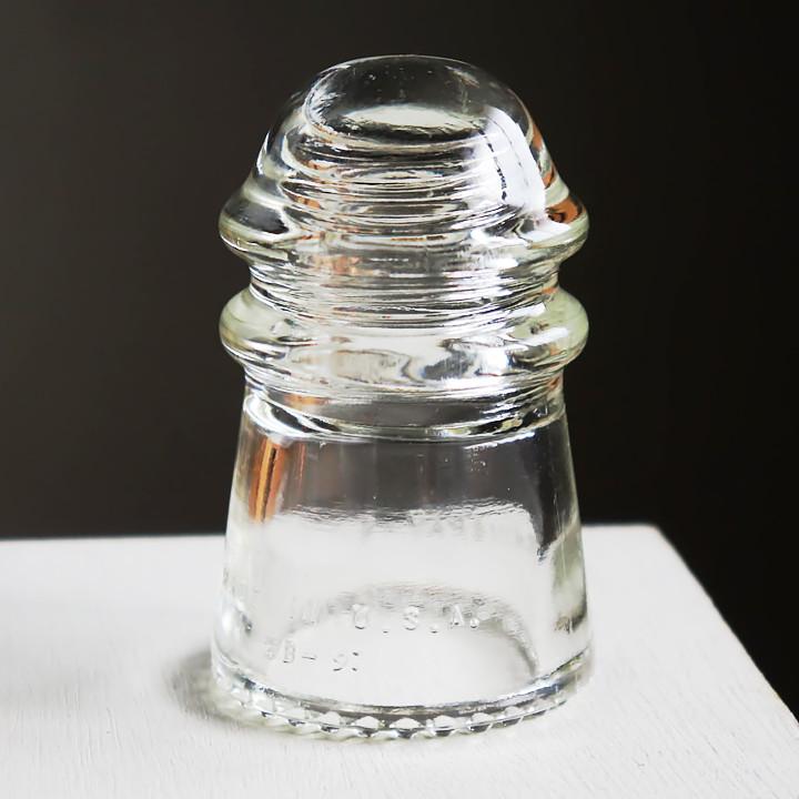 画像1: アメリカヴィンテージガラスインシュレーターHEMINGRAY|アンティークアンティークインダストリアル碍子 (1)