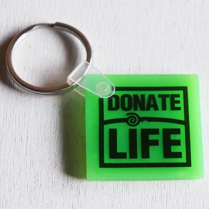 画像1: USAアドバタイジングUSEDキーホルダー骨髄ドナーバンクGIFT of LIFE|アメリカン雑貨 (1)