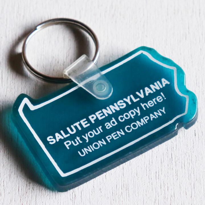 画像1: USAアドバタイジングUSEDキーホルダーSALUTE PENNSYL VANIA|アメリカン雑貨販売促進グッズ制作会社 (1)