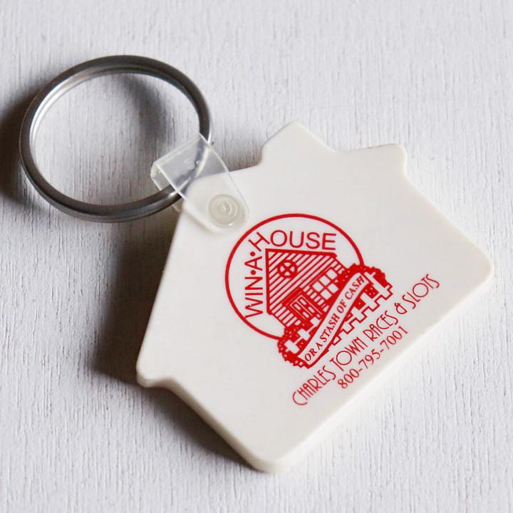画像1: USAアドバタイジングUSEDキーホルダーチャールズタウンレースハリウッドカジノ アメリカン雑貨WIN A HOUSE (1)