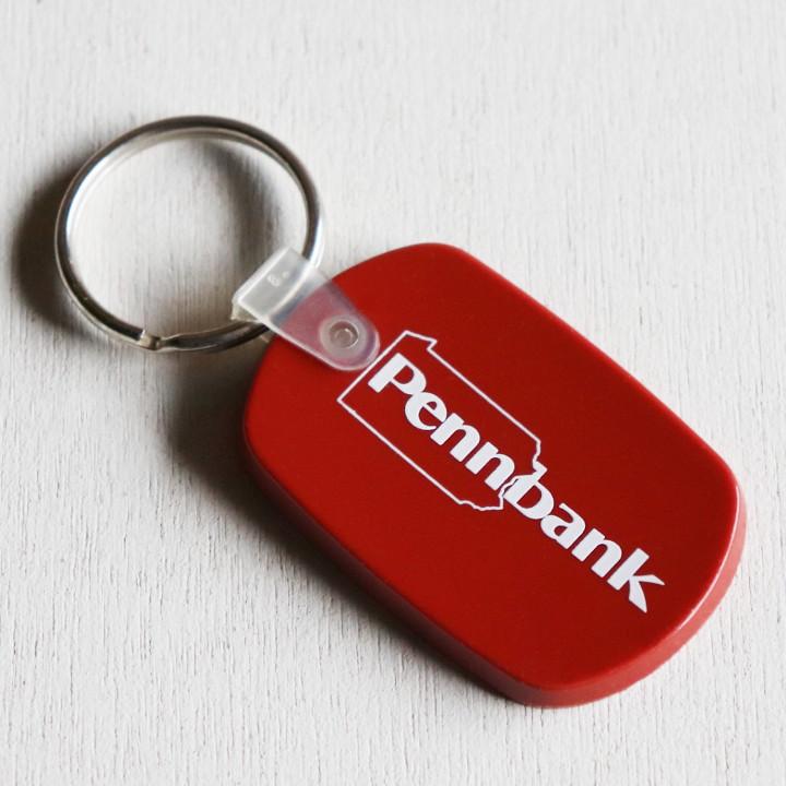 画像1: USAアドバタイジングキーホルダーPennBank ペンシルベニア銀行|アメリカン雑貨ヴィンテージ (1)