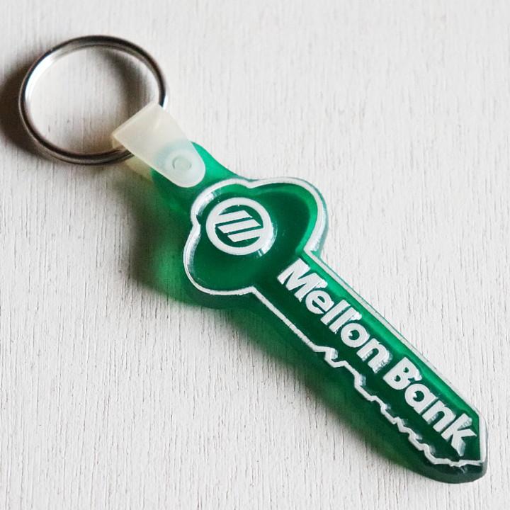 画像1: USAアドバタイジングUSEDキーホルダーメロンバンク銀行 ヴィンテージアメリカン雑貨鍵 (1)